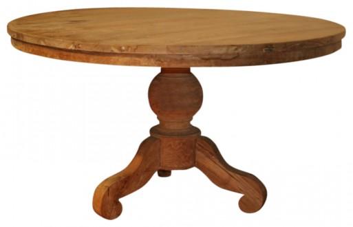 Runder Tisch In Goldbraun Aus Massivholz Lesung Massive Moebelcom
