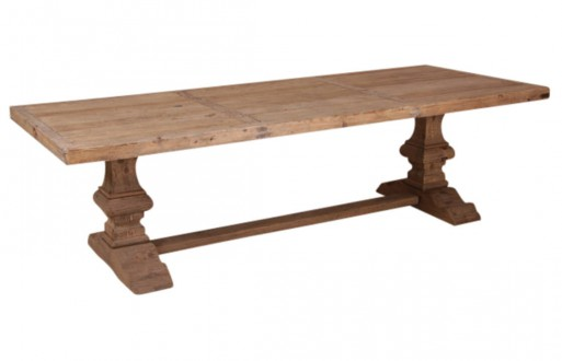 Klostertisch-natur-rustikal Pappelholz-Massivholz-Esstisch-Tisch-1