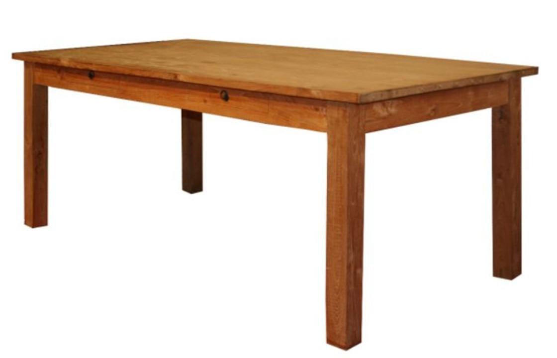 tisch in braun aus teakholz lesung massive. Black Bedroom Furniture Sets. Home Design Ideas