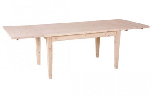 Tisch-helle FichteTanne-unbehandelt-mit Ansteckplatten-Massivholz-1