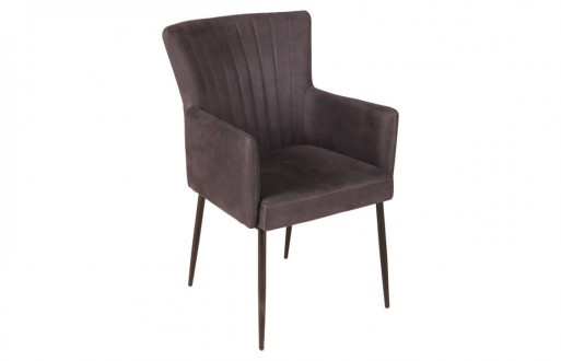Lederstuhl-dunkelbraun-Armlehnstuhl-Echtleder-Designstuhl-Tiltelbildansicht