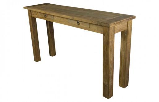Wandtisch hellbraun Massivholz Dengkleh