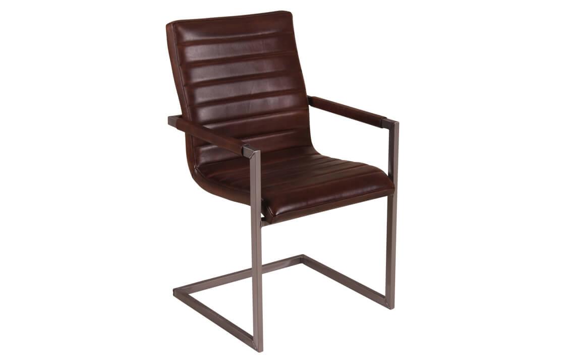 leder freischwinger stuhl warton massive. Black Bedroom Furniture Sets. Home Design Ideas