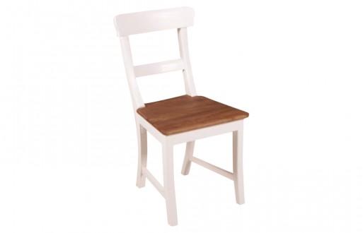 """Stuhl in weiß aus Massivholz """"Mariotto"""""""