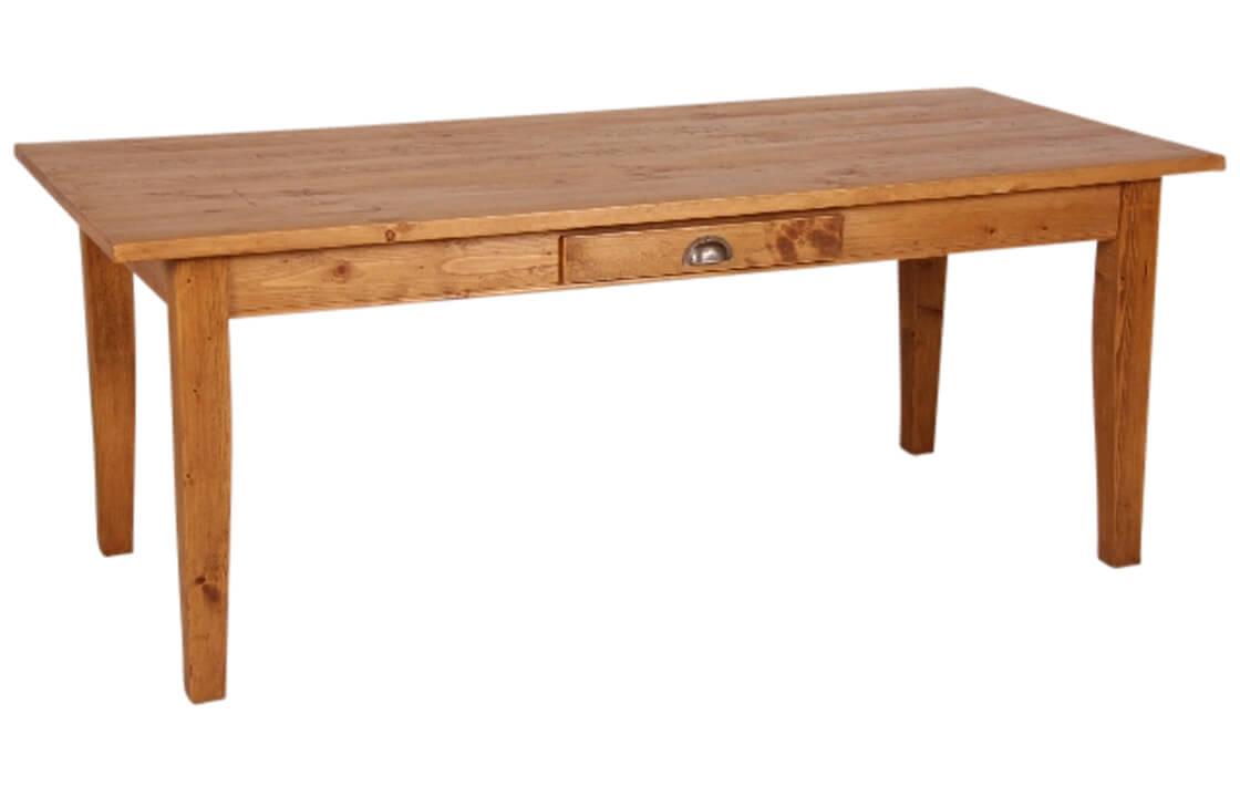 tisch in honigbraun aus kiefer basic massive. Black Bedroom Furniture Sets. Home Design Ideas