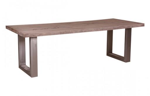 Tisch Eiche Massivholz Eisengestell